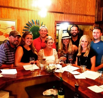 Crew at the winery